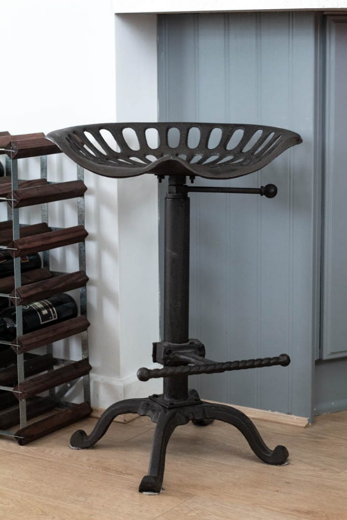 A heavy iron stool