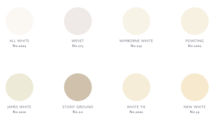 cream colour chart for farrow and ball