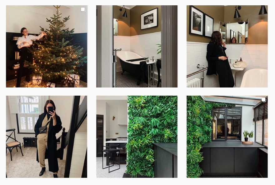 A shot of Chelsea's Instagram grid