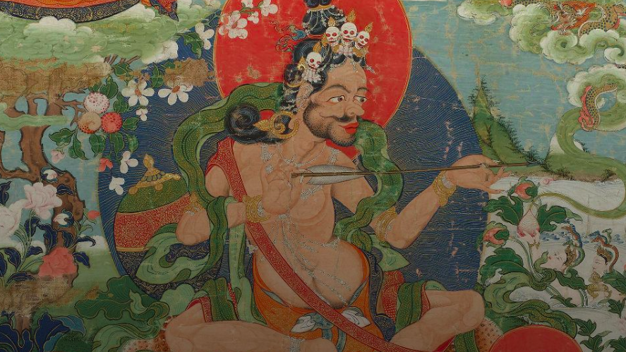 Image shows an ancient piece of tantric art